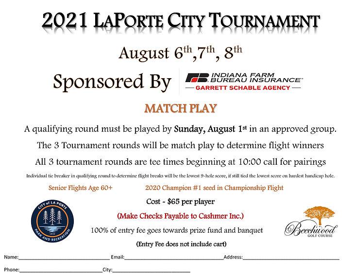 City Tournament Format Sheet