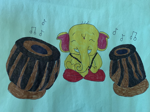 3rd Prize - Ganesha and Tabla