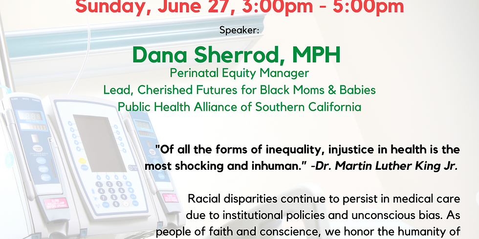 Dr. King Dreams Series - Dana Sherrod with Healthcare Justice