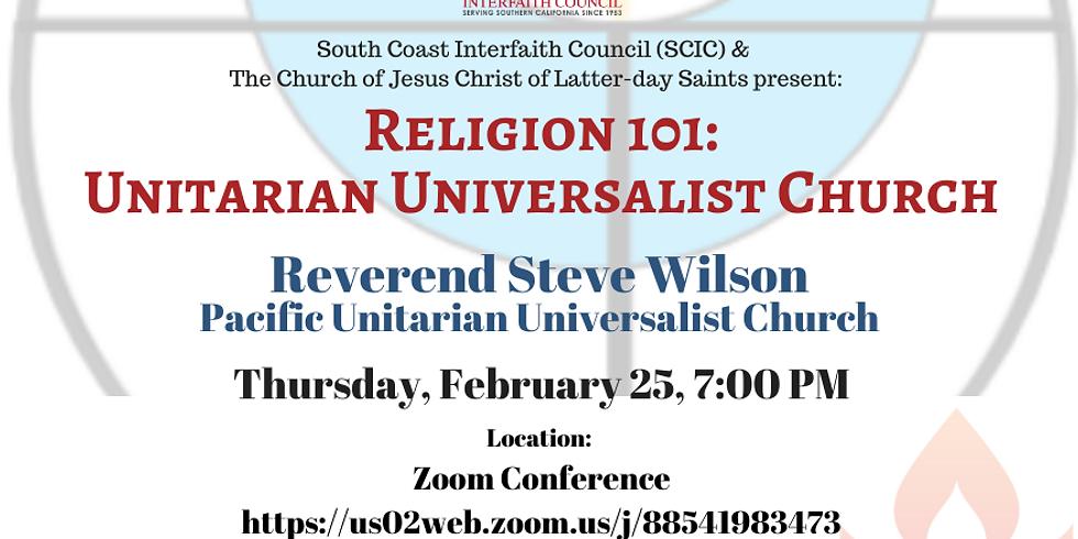 Religion 101 - Unitarian Universalist Church