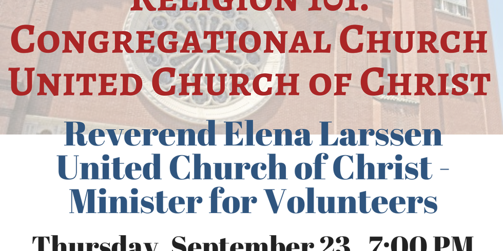 Religion 101: Congregational Church United Church of Christ
