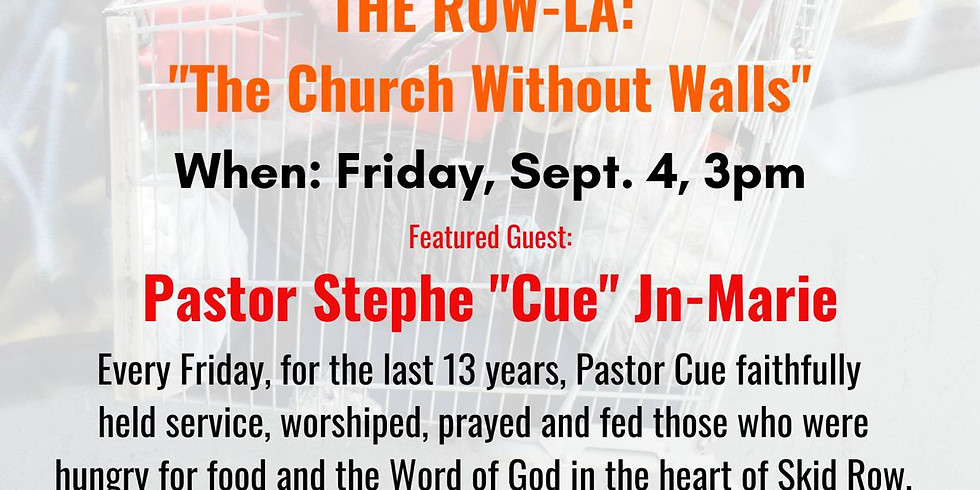 """Courageous Conversation with Pastor Stephe """"Cue"""" Jn-Marie"""