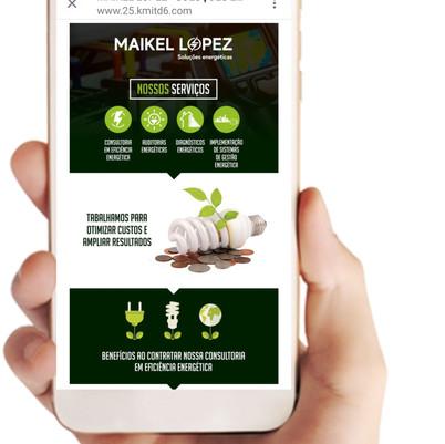 Landing page / Maikel Lopez - Soluções Energéticas