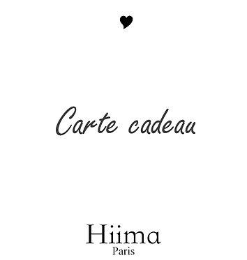 Carte cadeau Hiima