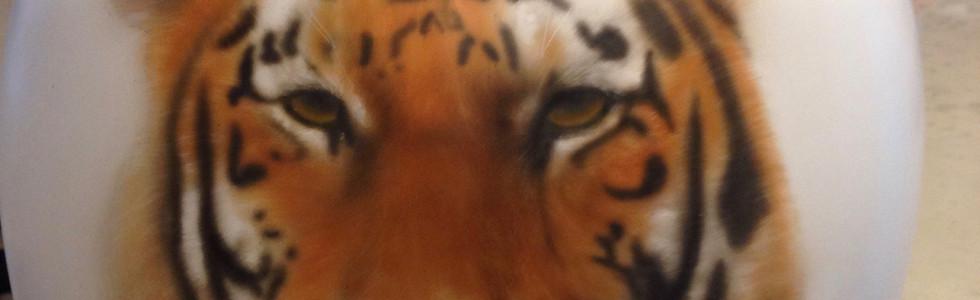 Casco Tigre Aerografia