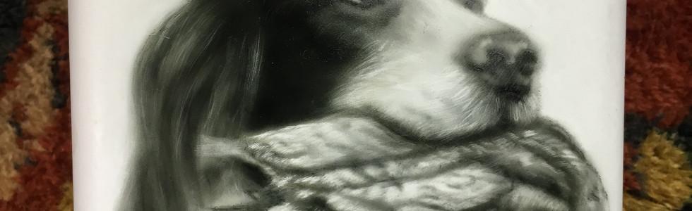 Aerografia Fiaschetta serie cani