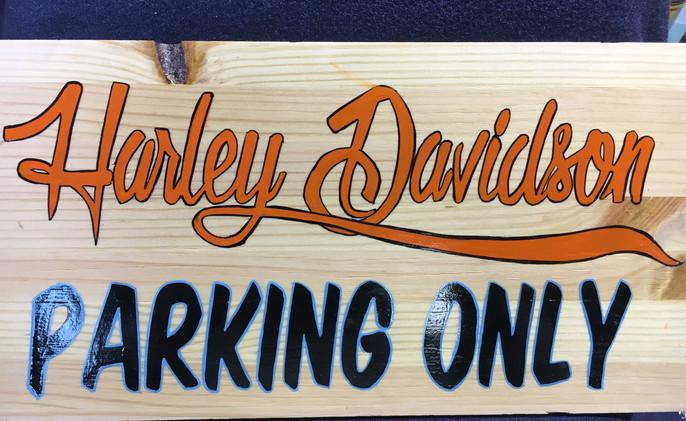 harley davidson parking