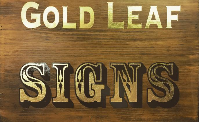 Gold leaf sign