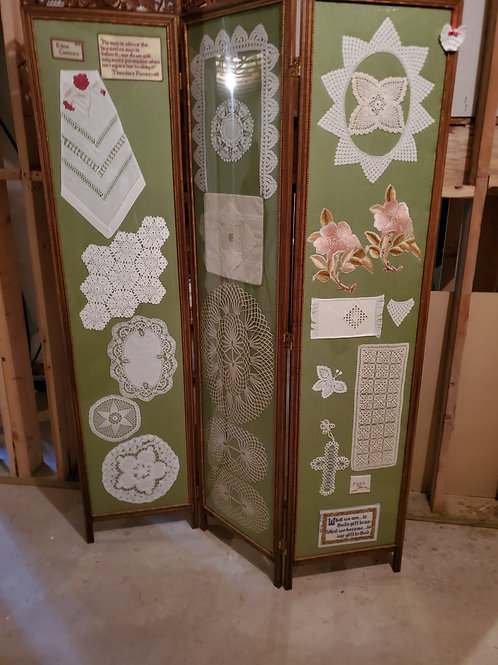 Vintage Double-Sided Antique Screen