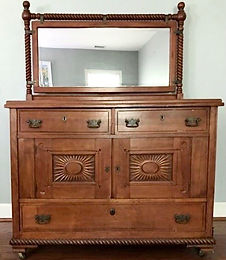 Early 1900's Carved Wooden Chest