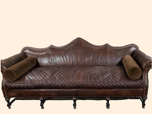 Rare, Custom Leather Sofa, By Old Hickory Tannery