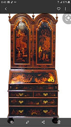 Maitland Smith Chinoiserie Lacquered Secretary