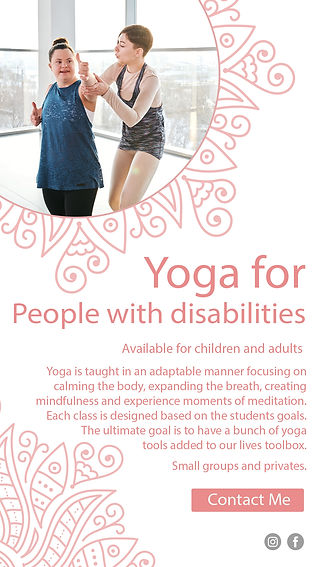 Spiraling Hearts yoga for people with di