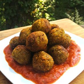 "Lentil Meat ""less"" balls"