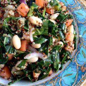 Collard & Cannellini Bean Salad