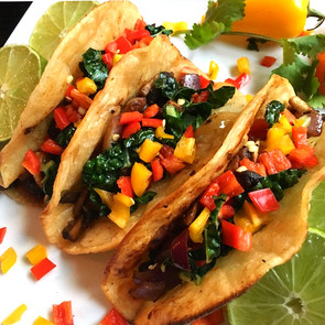 Chipotle Lime Mushroom Tacos with Kale