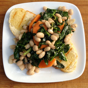 Cannellini Beans with Spinach and Carrots