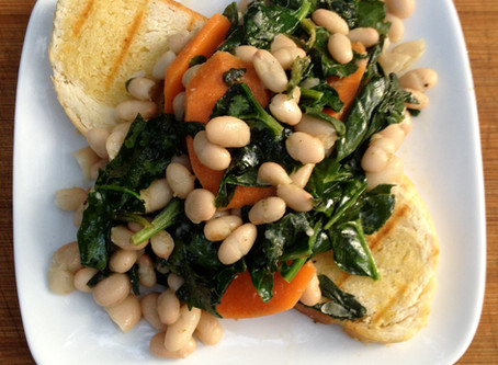 Quick Dinner: Cannellini Beans with Spinach and Carrots