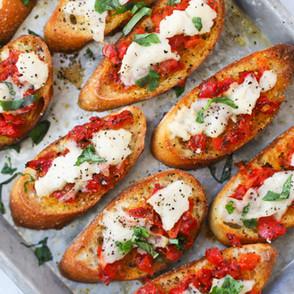 Cheesy Bruschetta Toast