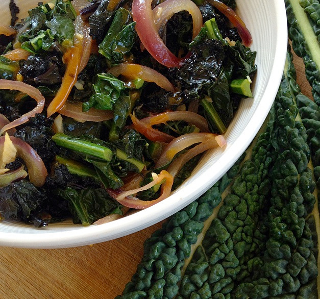 Sweet & Tangy Steamed  Kale