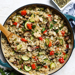 One Pot Greek Style Rice