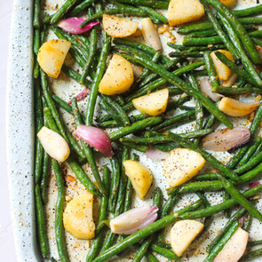 Easy Roasted Green Beans & Potatoes