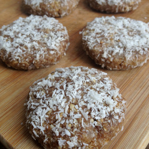 Raw Oatmeal Coconut Almond Butter Cookies!