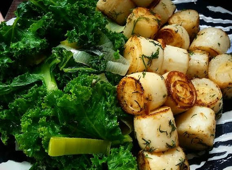 Seared Hearts of Palm with Lemon & Dill
