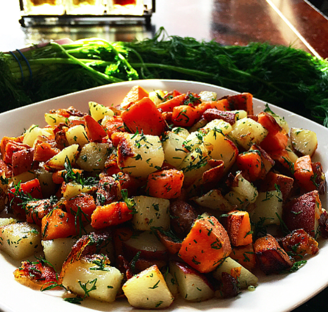 Mixed Potatoes with Fresh Dill and Sage