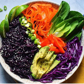 Black Rice Ramen Veggie Buddha Bowl