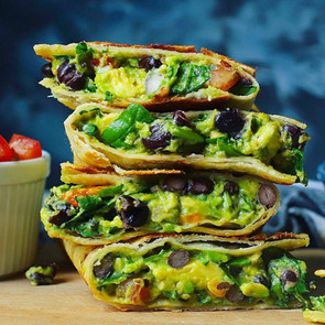 Black Bean Avocado Quesadillas
