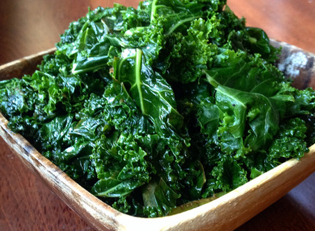 Steamed Kale & Basil with Lemon