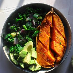 Simple Kale & Sweet Potato