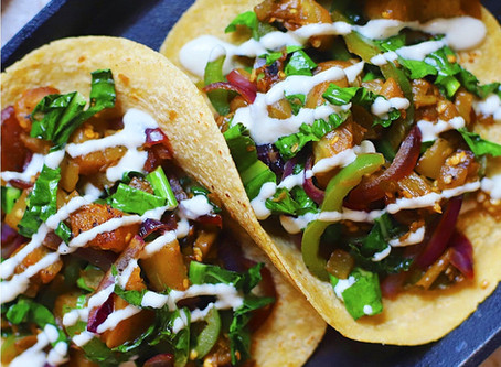 Eggplant Tacos with Green Chilies