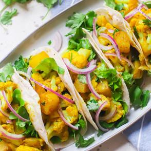 Aloo Gobi Style Tacos