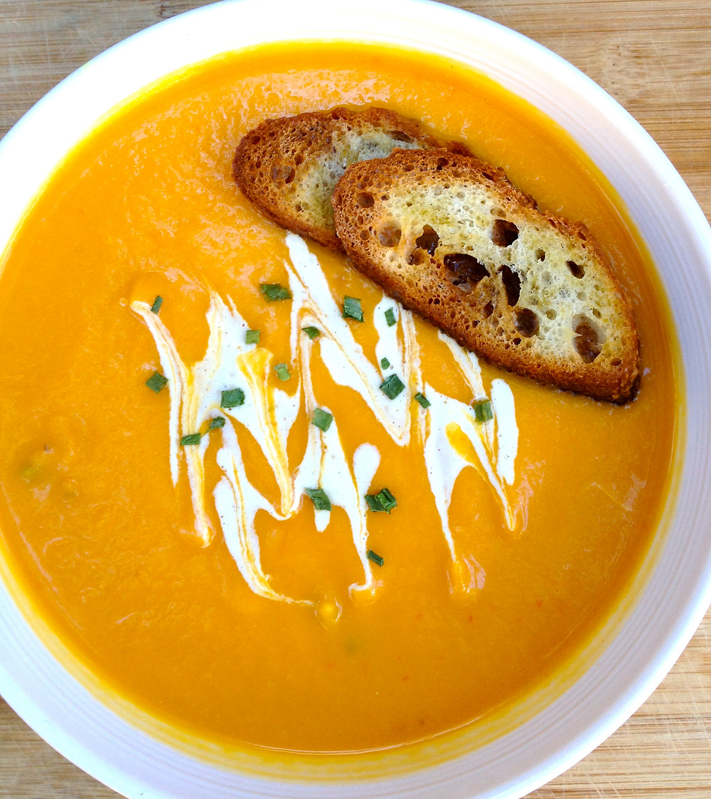 Roasted Red Pepper Butternut Squash Bisque