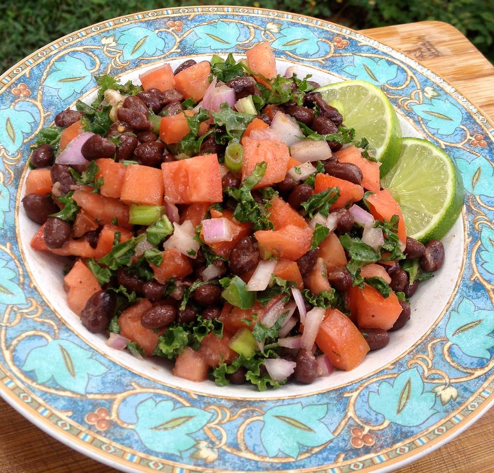 Black Bean Kale Salad