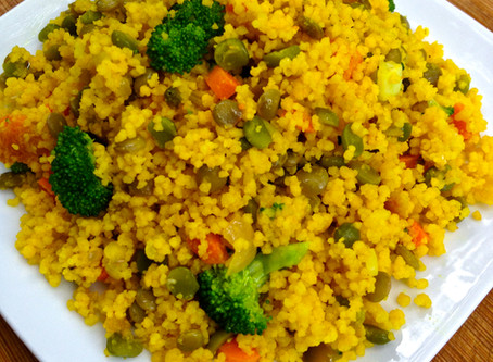 Turmeric Couscous with Veggies
