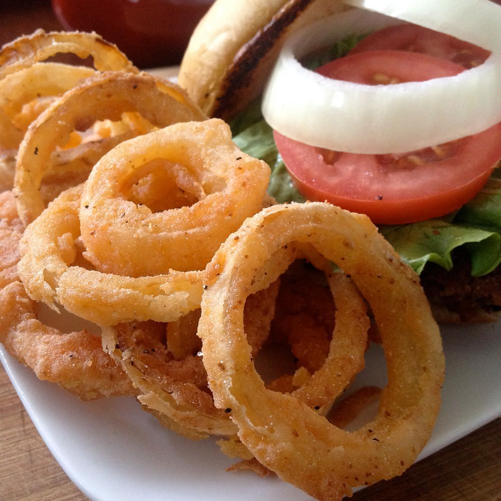 Vegan Sriracha Onion Rings.....Gluten Free