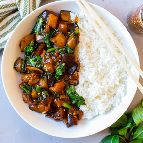 Sweet & Spicy Eggplant