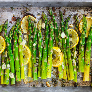 Lemon Caper & Garlic Roasted Asparagus