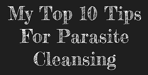 Start your parasite cleanse when you have a day off. This will give you the opportunity to see how your body reacts.