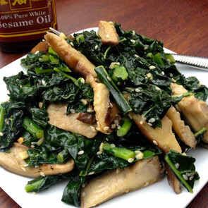 Sesame Garlic Kale &Mushrooms