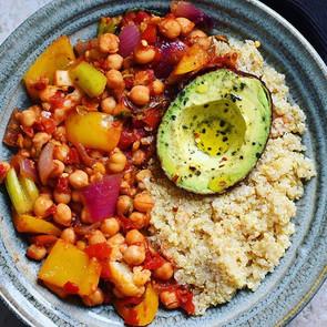 Stewed Chickpeas & Avocado