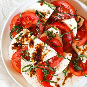 The Tastiest Vegan Caprese Salad