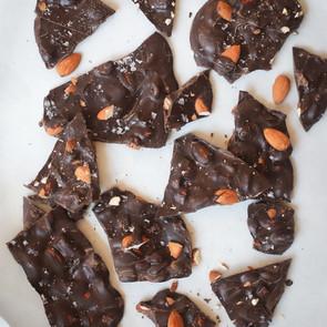 4 Ingredient Dark Chocolate Almond Bark