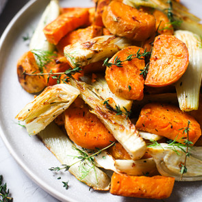Roasted Sweet Potatoes with Fennel