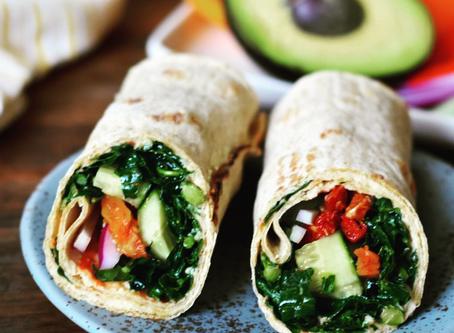 Kale Veggie Wraps