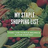 Staple Grocery Shopping List
