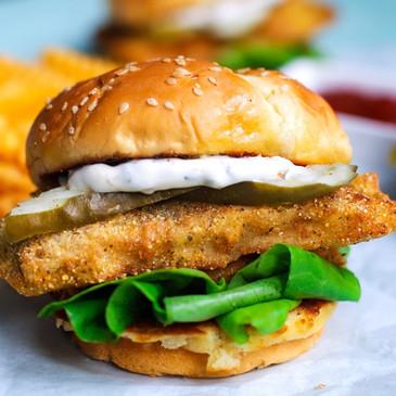 Eggplant Fish Sandwich